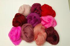 10 russet hues wet felting  needle felting tops Brown Merino Wool roving