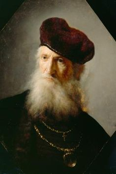 Bust of a Bearded Old Man - Rembrandt