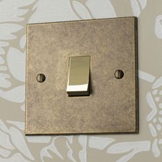 This Rocker Switch is a simple yet choice. We either hammer the edges in the to create a finish, or bevel them for a clean, finish. Light Switches, Room Accessories, Wall Hangings, Architecture Details, Lighting Ideas, Plugs, Period, Kitchen Ideas, Marvel