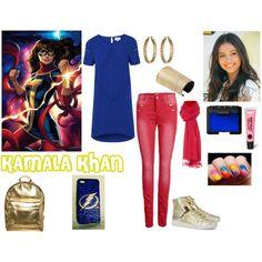 Miss Marvel (Kamala Khan) by ladydeathstrikex on Polyvore featuring Poem, ONLY, Michael Kors, Mi-Pac, Lauren Ralph Lauren, Jenà , Lands' End, NARS Cosmetics, Monki and hero