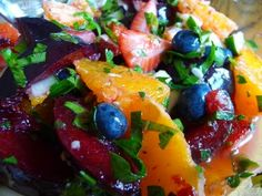 Summer Fruit and Herb Salad with Cucumbers