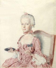 The Archduchess Marie Antoinette of Austria by Jean Etienne Liotard