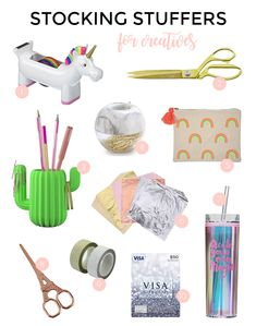 STOCKING STUFFERS FOR THE CREATIVE MAKER Homemaking, Stocking Stuffers, Stockings, Creative, Brainstorm, How To Make, Gifts, Shop, Office Supplies