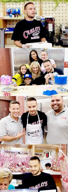 Liam and Sophia at Carlos Bakery. Life=complete Liam and Sophia at Carlos Bakery. Liam James, Boys Who, My Boys, Carlos Bakery, Where We Are Tour, I Love One Direction, 1d And 5sos, Liam Payne, Louis Tomlinson