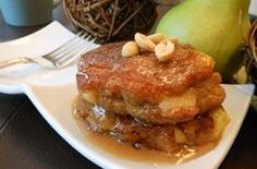 Recipe: Peanut Butter and Fresh Apple Pancakes with Peanut Butter Maple Syrup