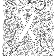 Breast Cancer Awareness Coloring Pages BetweentheKidscom