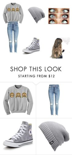 """""""Just cute"""" by lexi-patterson-1 ❤ liked on Polyvore featuring Converse and The North Face"""