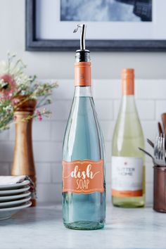 Your empty wine bottles have a new use with our Sutter Home DIY Wine Bottle Soap Dispenser. Put your love of wine and upcycling on display. Save the Earth one Moscato wine bottle at a time.
