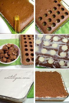 Puding Dolgulu Kek (Poke Kek)