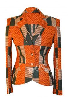 Elegant African Print Blazer Kente