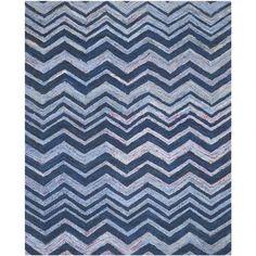 "Safavieh Nantucket Blue Chevron Area Rug Rug Size: 2'3"" x 4'"