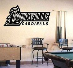 NCAA Louisville Cardinals Logo Wall Art Sticker Decal (S357)