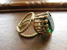 1950 West Germany Glass Brass costume jewelry