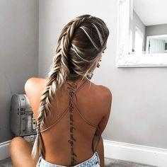 Signature Kelsey braid 👋🏾🐒 #saboskirt