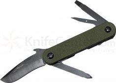 Emerson EDC-2 Multi-Tool by Multitasker, 2.7 inch Plain Blade, OD Green G10 Handles