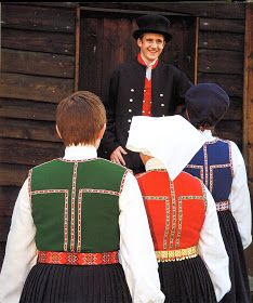 Hello all, Today I will cover the last province of Norway, Hordaland. This is one of the great centers of Norwegian folk costume, hav. Folk Costume, Costumes, Folk Clothing, Hardanger Embroidery, Scandinavian Art, Choir, Traditional Outfits, Norway, Culture