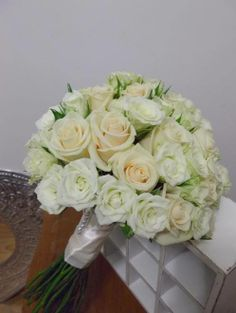 rose and spray rose wedding / bridal bouquet