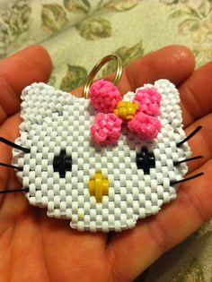 Hello Kitty w pink flower I by doggie-dew.deviantart.com on @deviantART