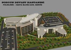 Aren Mimarlık Ofisi, ankara mimarlık , mimarlık ofisi, mimarlık  firmaları, mimari proje, 3d Max, – Hastane Projeleri