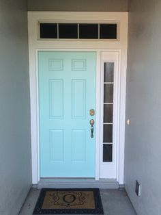 Front Door Color Tame teal by Sherwin Williams I this is going to need to & Front Door color: Sherwin Williams Drizzle turquoise Aqua front ... pezcame.com