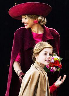 Queen Maxima and princess Alexia
