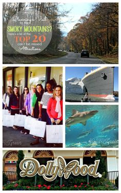 Planning a trip to the Smoky Mountains? Here's part 1 of the top 20 Smoky Mountains Attractions that you do NOT want to miss! Gatlinburg Vacation, Tennessee Vacation, Smoky Mountains Tennessee, Great Smoky Mountains, Mountain Vacations, Dream Vacations, Smoky Mountains Attractions, Sevierville Tennessee, Road Trip Hacks