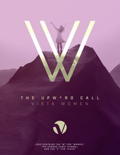 """A design exercise using Calvary Vista Women's Ministry. The logo looks like the letter """"W"""" at first glance. But it also contains the """"V"""" for Vista at the bottom in the middle of the """"W"""" as well as the upward caret at the top center of the """"W."""""""