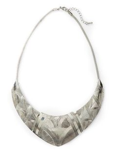Etched Metal Collar Necklace  by Hive & Honey