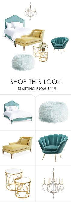girl's bedroom by veryvlada on Polyvore featuring interior, interiors, interior design, дом, home decor, interior decorating, PBteen, Redford House, Eichholtz and bedroom