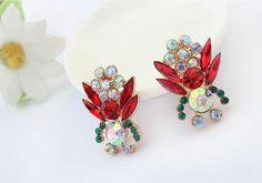 Tropical Plants Rhinestone Earrings | LilyFair Jewelry, $10.99!