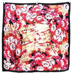 Vintage Jones New York Satin Floral Scarf