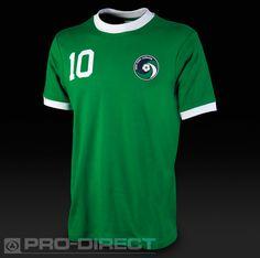 Umbro Clothing - Umbro New York Cosmos Vintage 76 Away Jersey - Umbro Apparel - Green