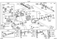 toyota front differential parts #1