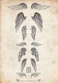 Wing Tattoos by ~Seda1990 on deviantART