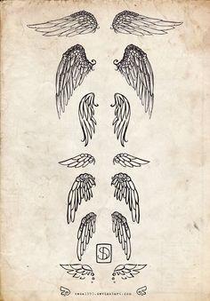 Wing Tattoos by ~Seda1990 on deviantART