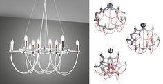 Lumiven, luminaire design, Lampe plafond, suspension ACH901612PL-W