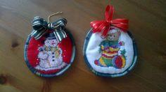 Vánoční vyšívané ozdoby
