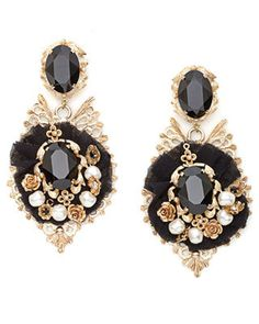 39c63c95d15 dolce and gabbana fall 2012 black gold earrings