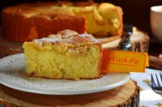 Грушевый пирог из кукурузной муки