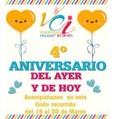 MAYO DETALLES  Y MANUALIDADES: 4to Aniversario de VCI del ayer y del Hoy