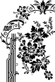 Black And White Flowers, Black Leaves, Black And White Lines, White Art, Bar Design, Design Studio, Karim Rashid, Hd Phone Wallpapers, Damask Stencil