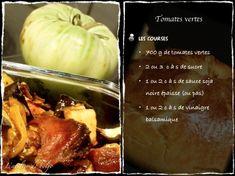Tomates vertes caramélisées et confites au four ou quoi faire avec les légumes de l'AMAP | l'atelier de boljo Four, Baked Potato, Garlic, Potatoes, Chicken, Meat, Vegetables, Ethnic Recipes, Provence