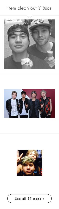 """""""item clean out ❊ 5sos"""" by calums-kinda-hot-tho ❤ liked on Polyvore featuring 5sos, 5 seconds of summer, michael clifford, michael, pictures, mike, calum hood, celebs, luke and luke hemmings"""