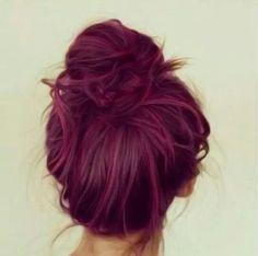 Burgandy hair, underneath