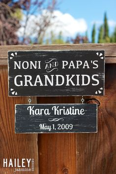 Grandkids Hand Painted Wood Sign by HaileyJasmineDesigns on Etsy, $50.00 Painted Wood, Painted Signs, Hand Painted, Wooden Projects, Craft Projects, Craft Ideas, Wood Burned Signs, Wood Signs, Sign Painting