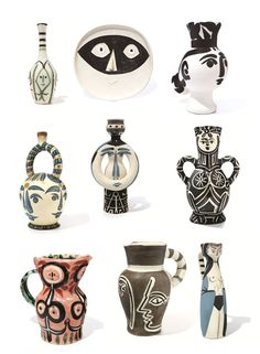 Picasso vases and ceramics. Black, white, grey and neutral colours. Stylish, upmarket, elegant and modern. I would love these in my new home!