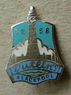 Vintage Enamel Badge Butlins Holiday Camp Hotel Blackpool 1958 | eBay
