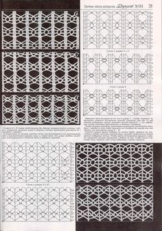 Making it : crochet stitches Crochet Stitches Chart, Thread Crochet, Filet Crochet, Crochet Motif, Irish Crochet, Crochet Lace, Crochet Patterns, Granny Squares, Crochet Projects