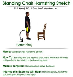 Exercises for Injuries Click here - http://www.hamstringinjurysolution.com/ - 7 Question Quiz on Hamstring Injury Recovery - Discover the Simple Step-by-Step Guide That Will Finally Help You Overcome Your Hamstring Injury.