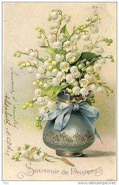 Images Vintage, Vintage Pictures, Vintage Cards, Victorian Flowers, Vintage Flowers, Flower Prints, Flower Art, Vintage Easter, Flower Pictures